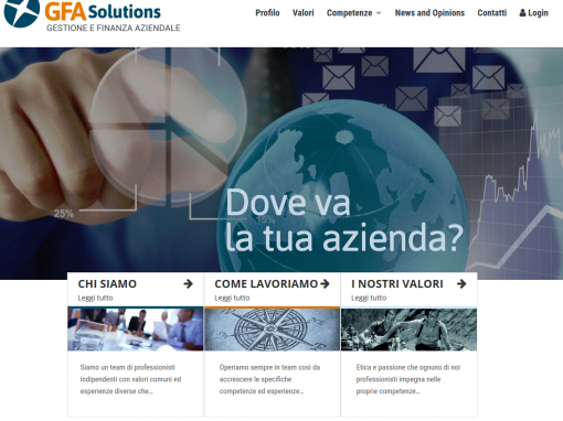 GFA Solution Research – sito web